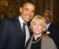 Barack Obama and Lily Ledbetter
